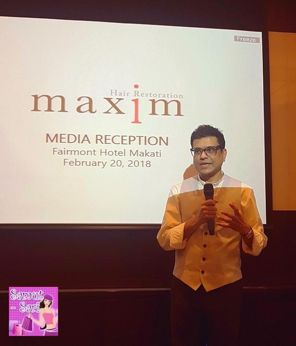 MaxiM Hair Restoration Philippines MAXiM Director Mac Fadra
