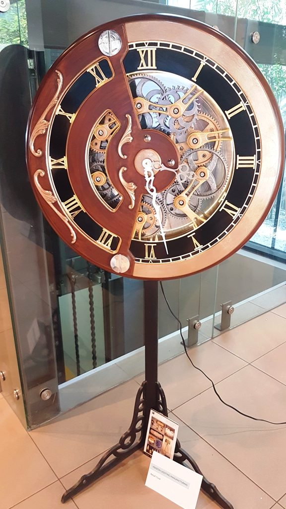 Philippines International Furniture Show - BEHALF CLOCK IN GUN METAL FINISH