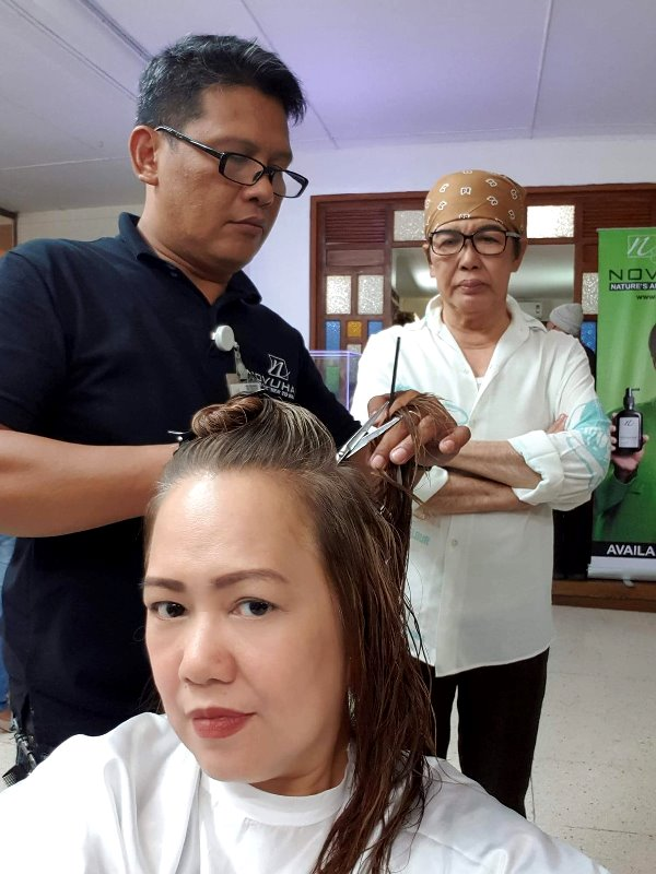Novuhair Herbal Shampoo, Conditioner and Topical Scalp Lotion Hair Treatment and Cut at Fanny Serrano Salon Atelier