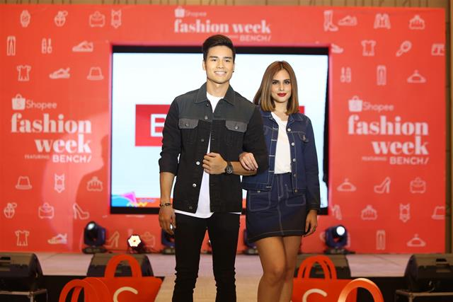 Shopee Fashion Week Up To 95% Off The Hottest Fashion Items Bench models Marco Gumabao and Max Collins