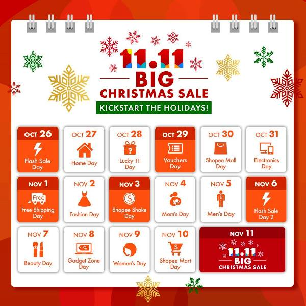 Shopee 11.11 - 12.12 Big Christmas Sale