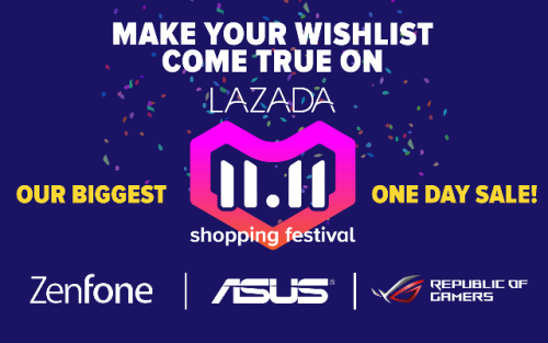 ASUS Joins Lazada 11.11 Shopping Festival on its Biggest One Day Sale!