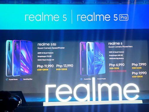 RealMe 5 and 5 PRO Specs
